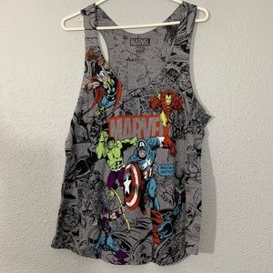 Marvel Full Screen Print Hero's United Tank Top